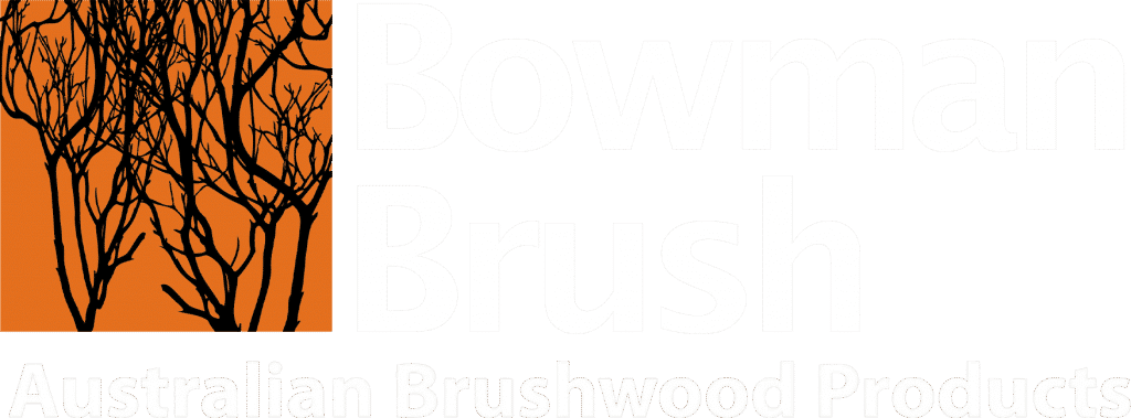 Bowman Brush Logo - White