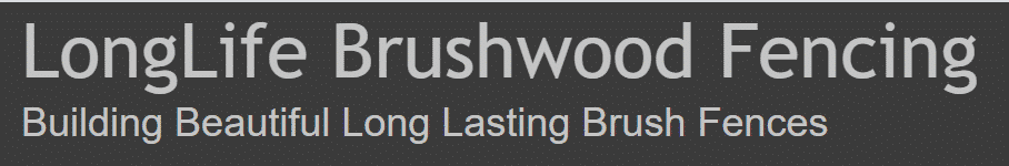 Longlife Brushwood fencing logo