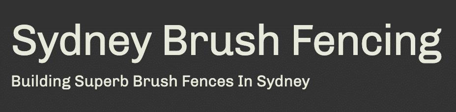 Sydney brushwood fencing logo